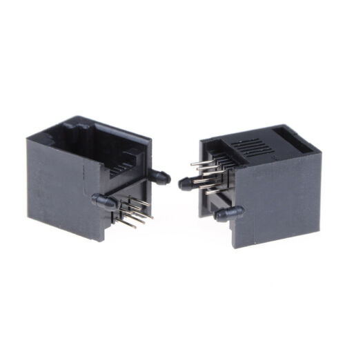 10pcs//set RJ11 RJ12 6P6C Computer Internet Network PCB Jack Socket NIUS