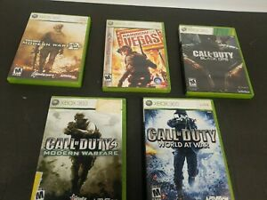 Call of Duty 4 Modern Warfare & Shooter Game Lot of 5