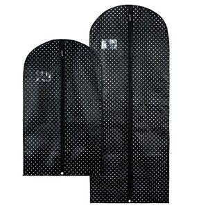 Hangerworld-Black-Spotty-Breathable-Suit-Dress-Clothes-Covers-Garment-Bags