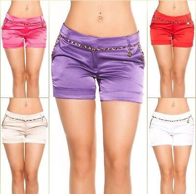 Koucla Jeansshorts Kurze Hose Jeans Shorts mit Leoprint