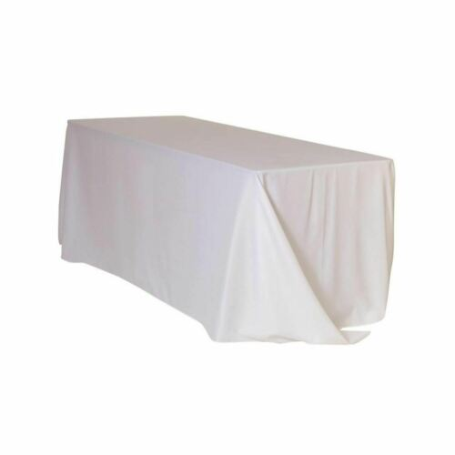 90 x 132 Inch Rectangular Polyester Tablecloths YCC Linens