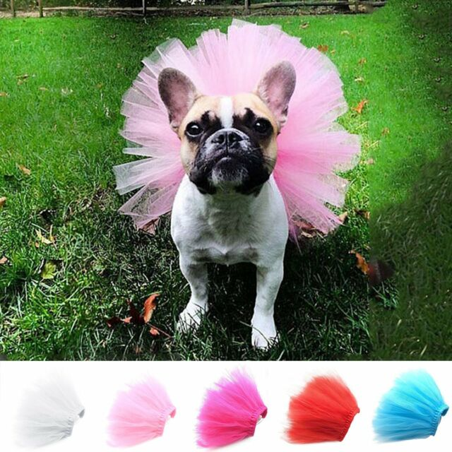 Pet Dog Cat Puppy Princess Tutu Dress Party Skirts Clothes Costume Apparel S M L