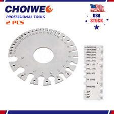 2 Pcs Stainless Steel Metal Sheet Thickness Gauge Welding Gauge Wire Round