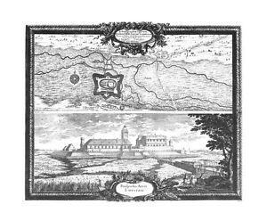 Antique-map-Ichonographia-operum-quibus-S-R-M-Sueciae-Lovitzium-Prospectus