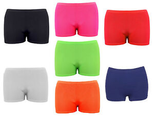 Girls-Microfiber-Hot-Pants-Shorts-School-Dance-Gym-Lycra-Stretch-Shorts-Age-5-14