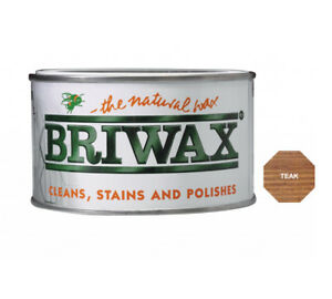 Briwax-Teak-Furniture-Wax-Polish-Wood-Cleaner-Restorer-400g-Natural-Tin-Cleaner