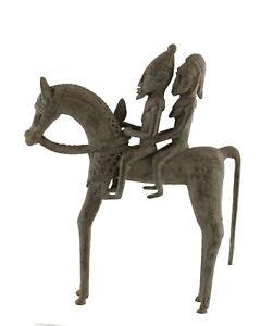 Cavaliere Dogon Bronzo Del Mali Arte Africano -29 CM Aa 1136