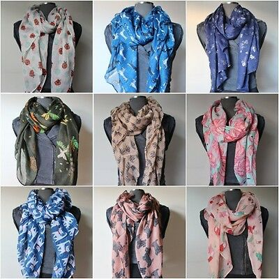 Assorted Animal Themed Scarf High Quality Lot of Gifts For Dog Cat Owl lovers UK