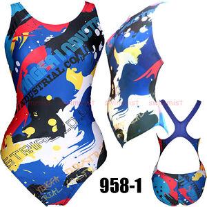YINGFA 958-2 WOMEN/'S RACING TRAINING SWIMSUIT SWIMWEARS M US GIRLS 10-12 30-40KG