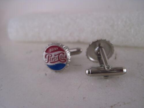 Pepsi Cola   cap logo  pair cufflinks **827  15