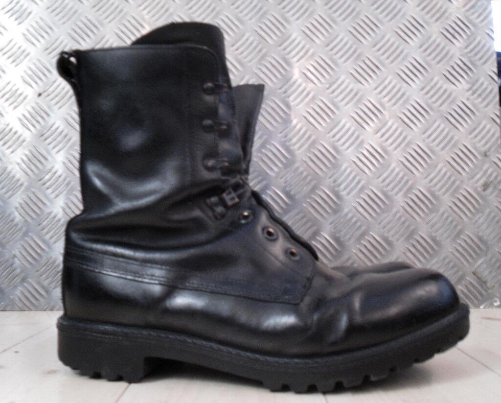 ORIGINAL BRITISCHE ARMEE schwarzes Leder Vintage Combat / ASSAULT Stiefel -