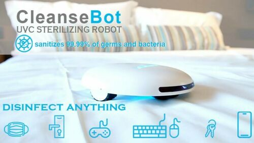CleanseBot Bacteria Killing UVC Robot Anti Dust Mite Power-bank   Spare Battery