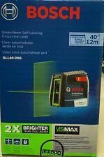 Bosch Gll40 20g Green Beam Self Leveling Cross Line Laser New Bm