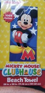 Mickey-Mouse-Beach-Towel-Disney-Mickey-Mouse-Clubhouse-100-pc-Cotton-28-034-x-58-034
