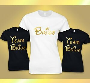 1383c5396d3d5 Details about Hen Tshirts Hen Do Party Night Bride Team bride Tshirt Ladies  customised printed