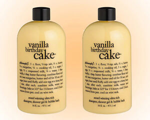 Image Is Loading Philosophy Vanilla Birthday Cake Shower Gel Shampoo Amp