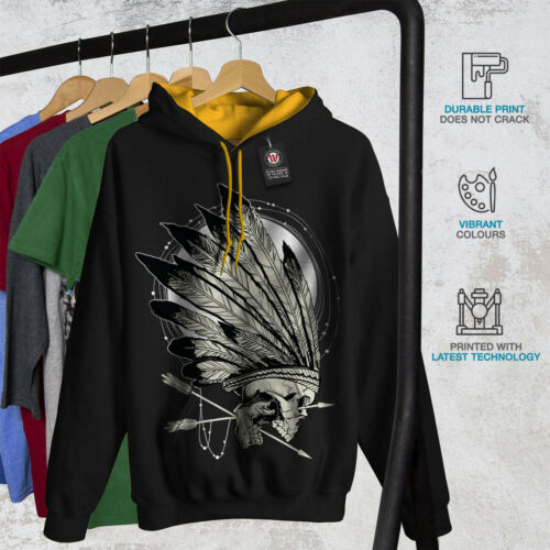Black New oro nativi cappuccio Felpa contrasti con uomo cappuccio indiani pxzYvq0w