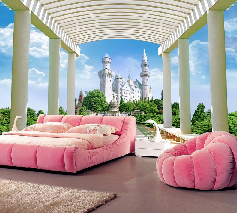 3D Europäisches Schloss 8655 Tapete Wandgemälde Tapete Tapeten Bild Familie DE | Erste Gruppe von Kunden  | Moderate Kosten  | Großhandel