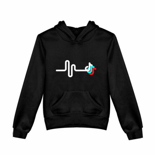 Kids Boys Girls Tik Tok Casual Hooded Top Long Sleeve Sweatshirts Hoodies