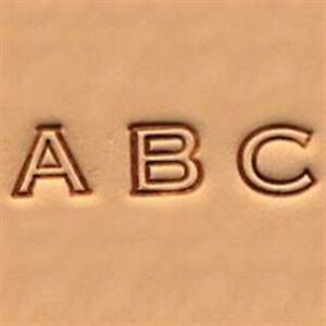 Craftool-Alphabet-Stamp-Set-1-4-034-0-6-cm-Open-Face-Item-4909-00-Tandy-Leather