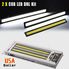 2 X Xenon White Black Ultra Thin 17CM Car Daytime Running DRL Fog COB LED Light