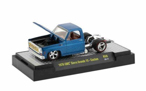 1976 GMC Sierra Grande 15  Blue Custom*** M2 Machines Trucks 1:64 NEU+OVP