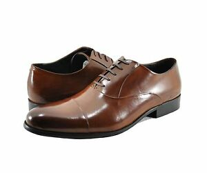 Men-039-s-Shoes-Kenneth-Cole-New-York-Chief-Council-Leather-Oxfords-Cognac-New