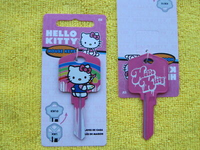 Sanrio Licensed Hello Kitty Red Kwikset KW1 House Key Blank