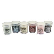 Wow! Glitter Polvere Da Rilievo 6 Pezzi Set - Collezione Vintage