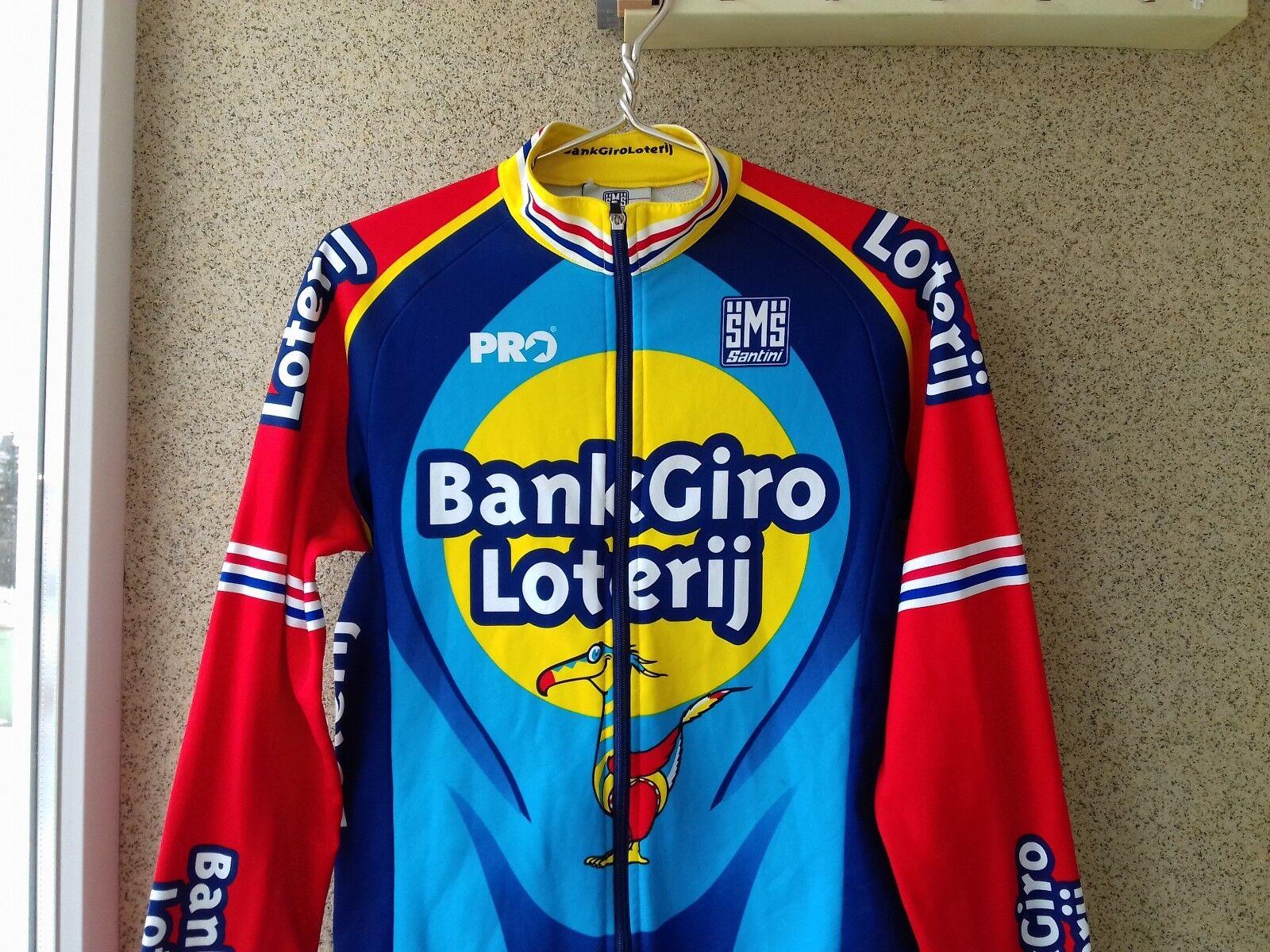 Cycliste SMS Santini Santini SMS BANK GIRO LOTERIJ Cycling Jersey trikot shirt M Vintage 86c3df