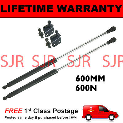 2X UNIVERSAL GAS STRUTS SPRINGS 250MM TO 600MM BOOT BONNET MULTI PURPOSE 400N