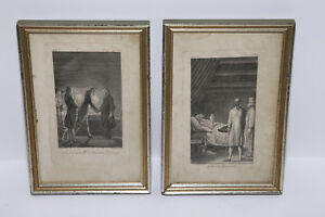 2-Original-Framed-Etchings-by-Polish-German-Artist-Daniel-Nikolaus-Chodowiecki