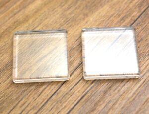 5pcs 25MM Round Flat Back Clear Glass Cabochon