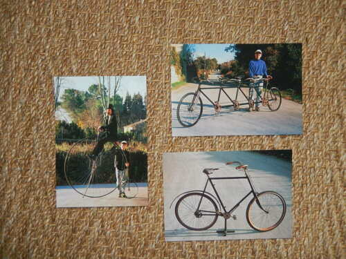 LOT 3 CARTE POSTALE CPM  CYCLE VELO QUADRIPLETTE ACATENE GRAND BI