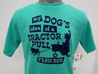 Farm Boy Brand my Dogs Idea Of A Tractor Pull Toddler Green T-shirt