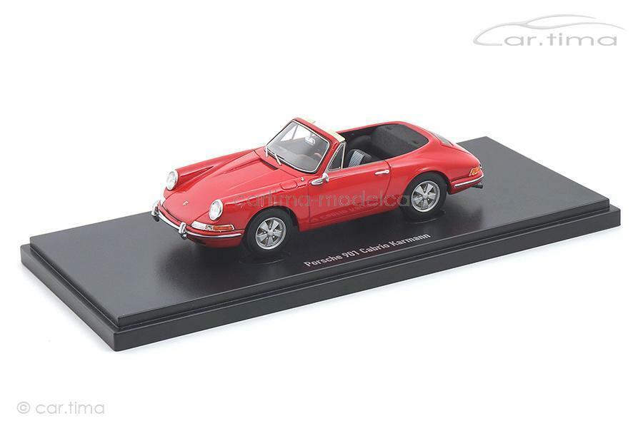 Porsche 901 Karmann cabriolet-rosso-autocult 1 43 - 90074