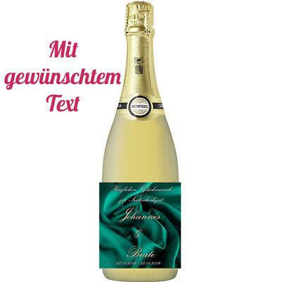 Flaschenetikett *Petersilienhochzeit* 12 1//2.Hochzeitstag glänzend
