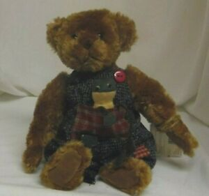 Hucklebeary 10in Retired Ganz Cottage Collectibles Teddy Bear With Frog Cc11255 Ebay