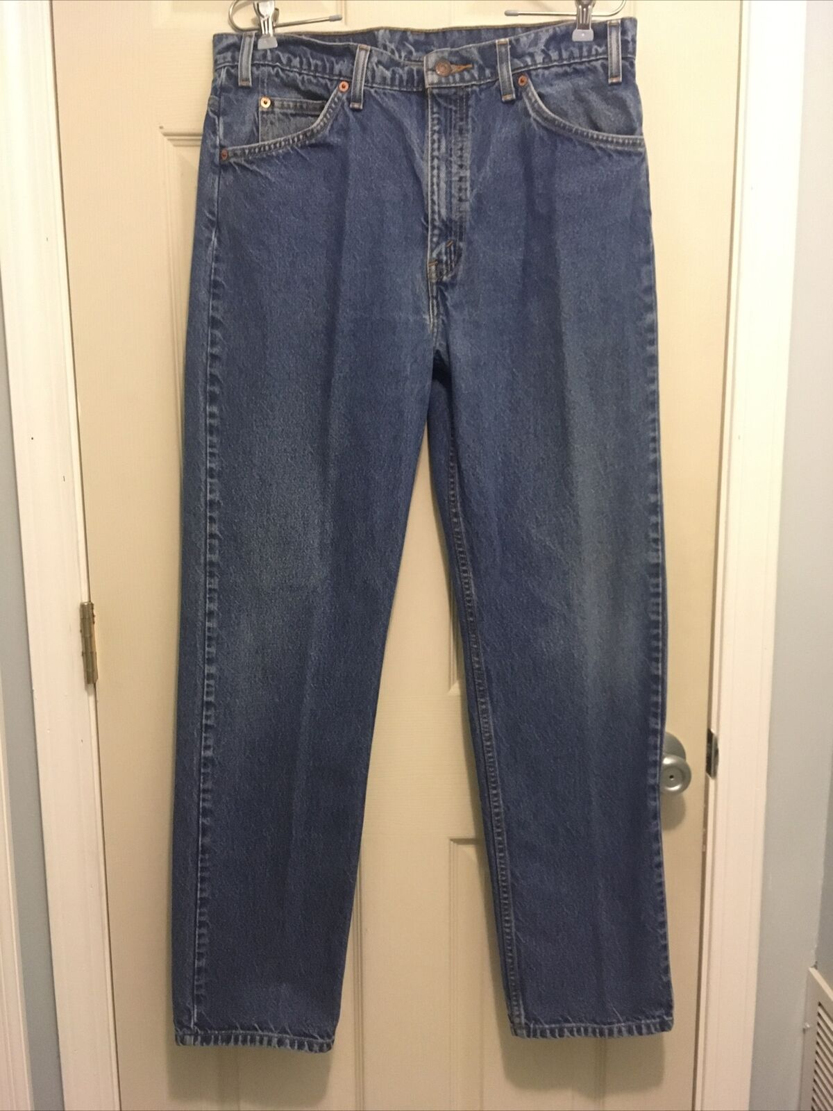 Vintage 1990s Levis 505 Orange Tab Denim Blue Jea… - image 1
