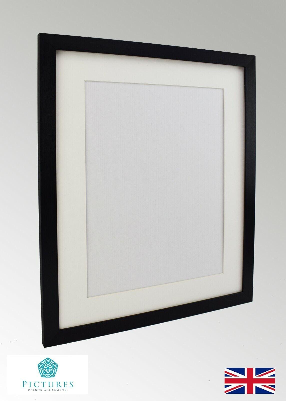 Nero FOTO CON POSTER PANORAMICO telaio bianco sporco Mounts 12x12 -22x34  A2