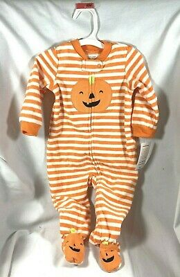 2 Pcs Carter's Just One You Halloween 6M Hat And Footed Feet.