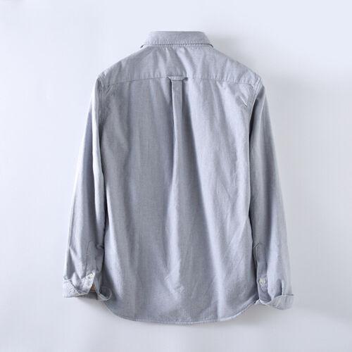 Herren Fleecefutter Oxford Hemd Dick Warm Langärmelig Top Kragen Jacke Neu