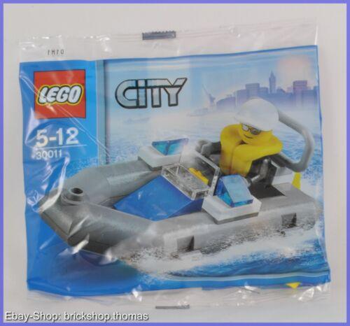 Polizei Boot Dinghy Lego City 30011 neu ovp
