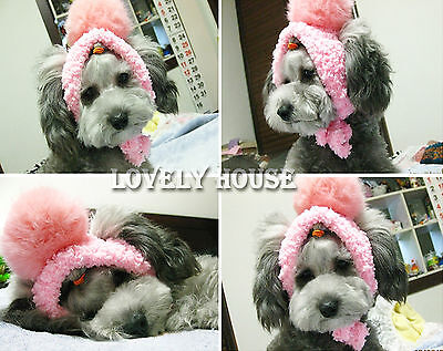 Big Ball Pet Hat Dogs Cats Costume Hat Funny knitted Cap Multicolor SIZE XS-XL
