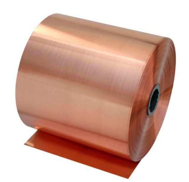 1pcs 99.9% Pure Copper Cu Metal Sheet Foil 0.05 x 100 x 500 mm #E3-050