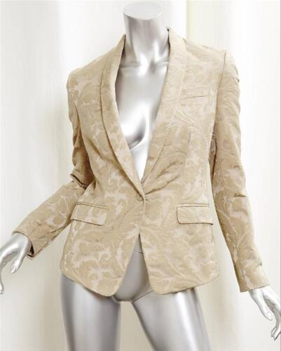 Cotone Dolce Blazer 2 38 Giacca Lunga amp; Gabbana Floreale Beige Broccato Manica 44AqECwZ