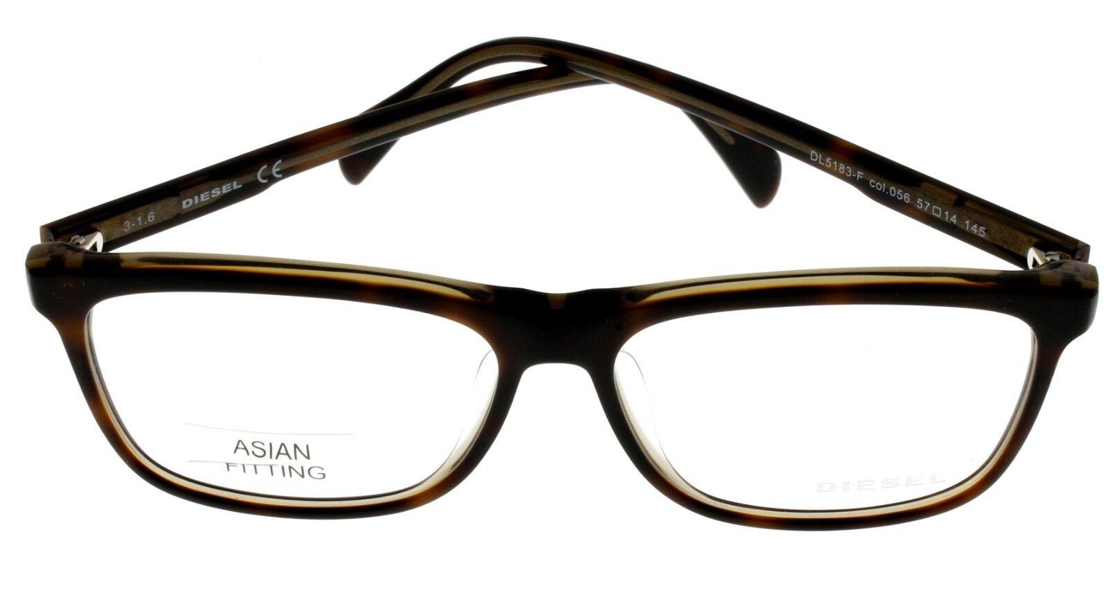 1c22e3190d37 Diesel Men Tortoise Eyeglasses Frame Rectangular Dl5183 056 | eBay