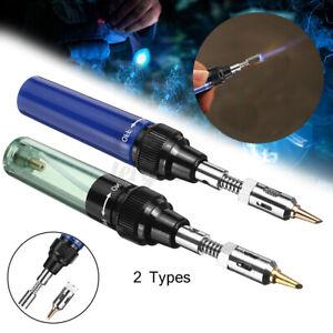Mini Gas Blow Torch Soldering Solder Iron Gun Butane Cordless Woolelding Pen