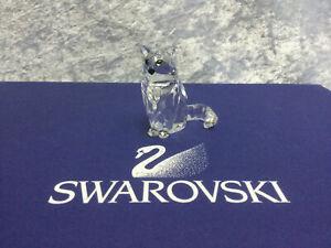 Swarovski Crystal Sitting Cat 7634046000 160799. Retired 2006. MIB