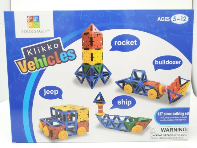 Klikko Vehicles: Educational Building Toy 137 pieces Activities to Learn STEM